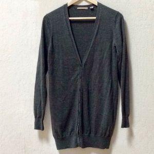 Uniglo Merino Wool Gray Cardigan
